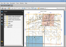 A Lawrence County map page viewed in Acrobat Reader on Linux